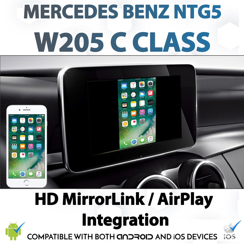[NTG5] Mercedes Benz W205 C-Class Android MirrorLink Apple AirPlay  Mirroring Integration Install Upgrade Kit