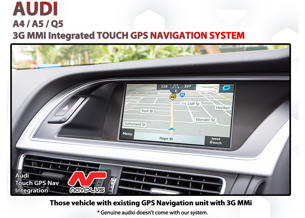 Audi Q5 Factory 3G MMI Audio Screen Add-on Touch GPS Navigation MAP Upgrade  SAT NAV