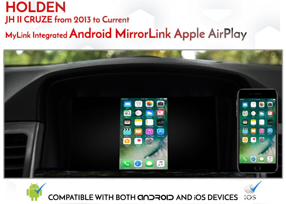 Holden Cruze MyLink Smartphone android MirrorLink apple airplay Mirroring  Integration Kit