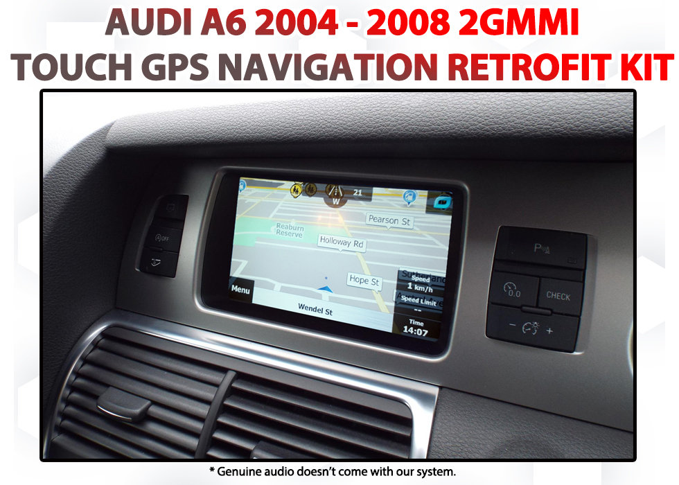 [2004 - 2008] Audi A6 (C6) Factory 2G Audio Add-on GPS Navigation Map  Upgrade System
