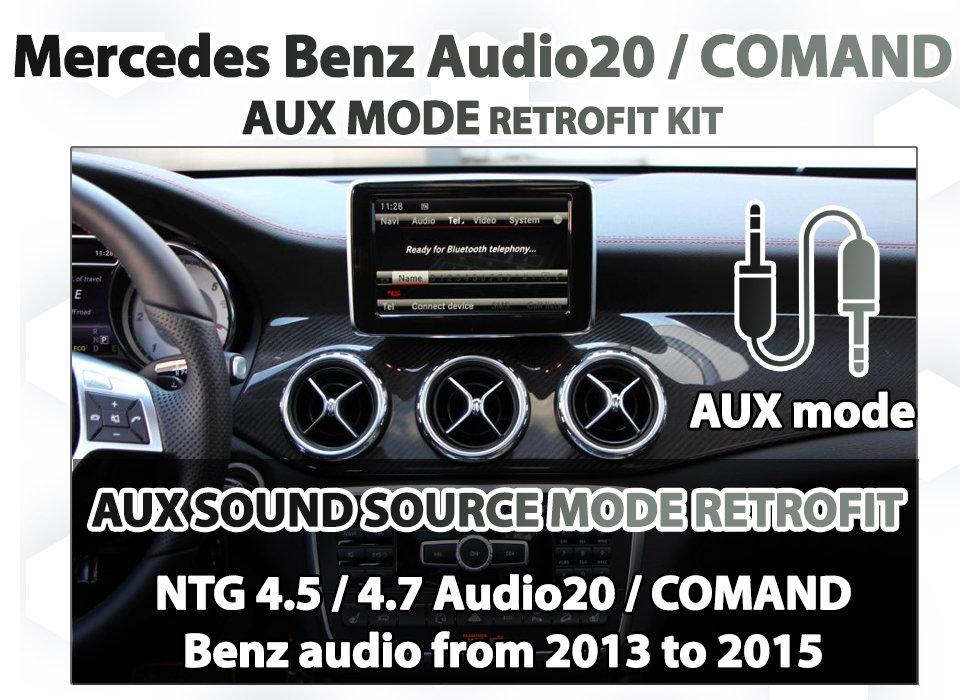 MERCEDES BENZ - NTG4 5 & 4 7 AUDIO 20 / COMAND AUX SOUND MODE RETROFIT