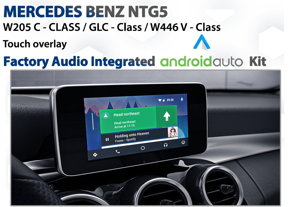 NTG5 Mercedes COMAND Integrated Touch overlay Android Auto Retrofit Kit