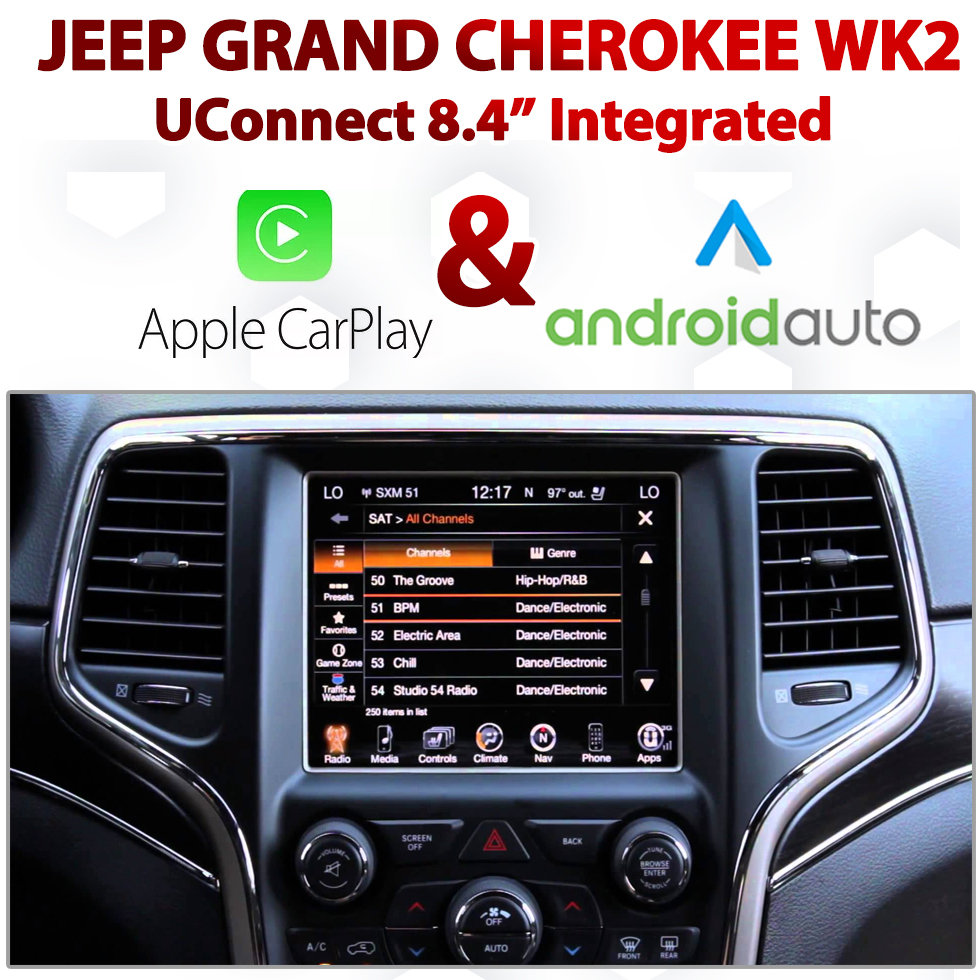Jeep Grand Cherokee Wk2 Uconnect 8 4 Integrated Android Auto