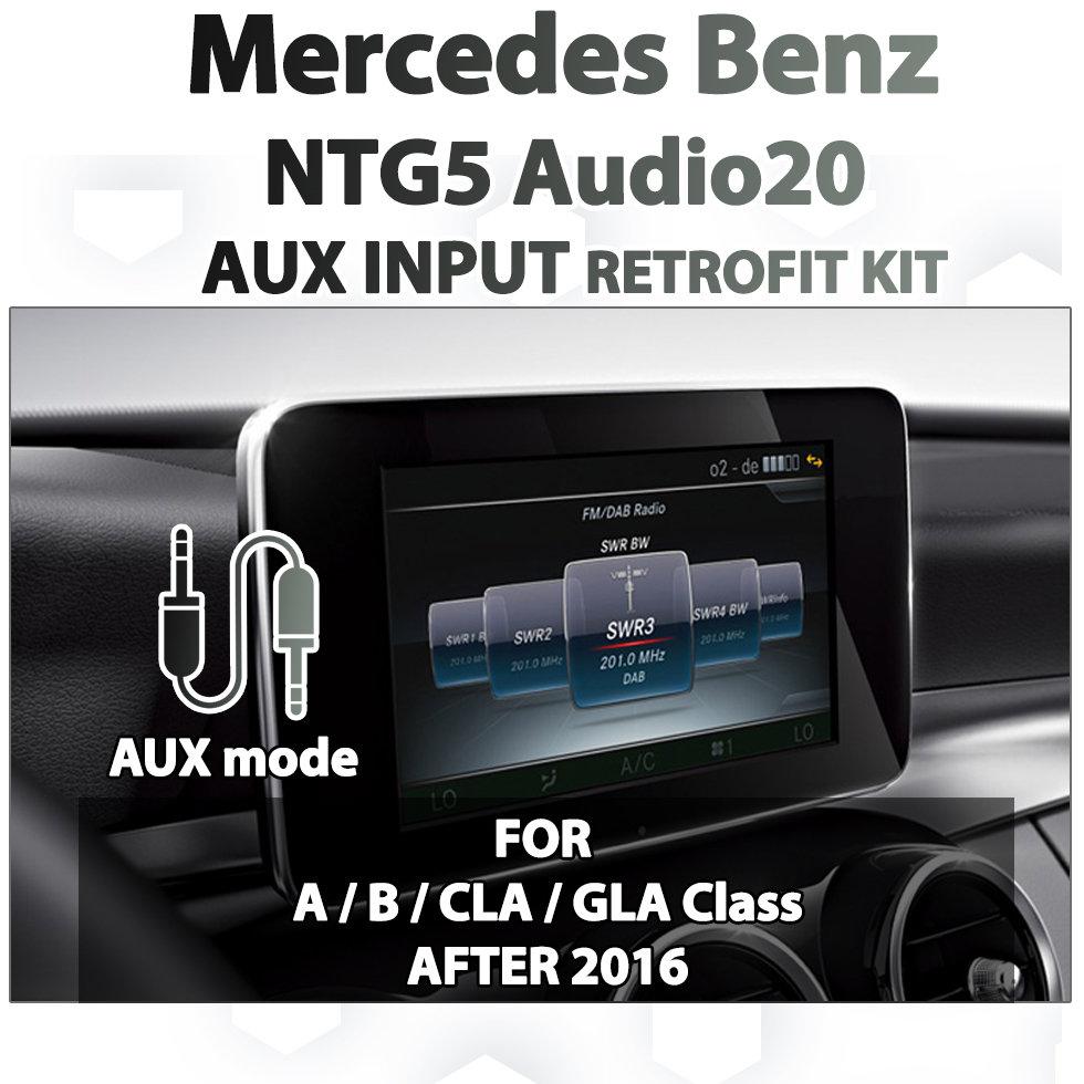 [2016 - Current] MERCEDES BENZ - NTG5 Mercedes Benz Audio20 Audio AUX  add-on Retrofit Kit