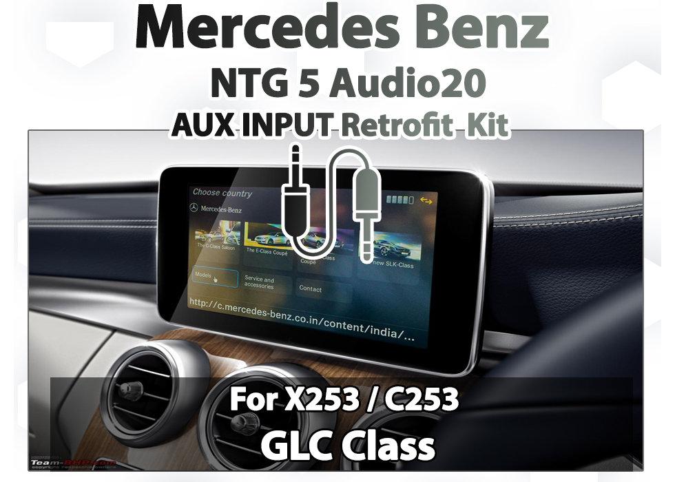 X253 GLC Class - Factory Mercedes Benz Audio20 NTG 5 0 AUX sound retrofit  Kit