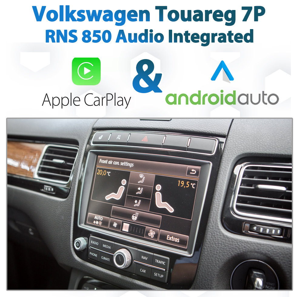 Volkswagen Touareg 7P 2010 - Current : Apple CarPlay & Android Auto  Integration on RNS850 Audio