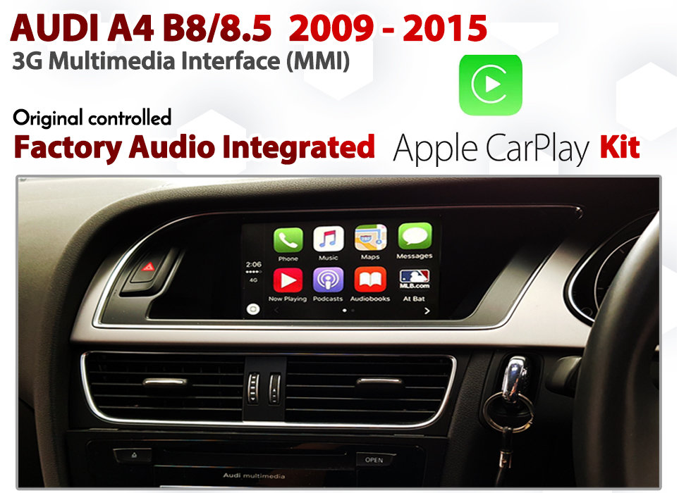 Apple CarPlay for Audi A4 B8 / 8 5 3G MMi Audio Integrated Apple CarPlay  Retrofit Kit