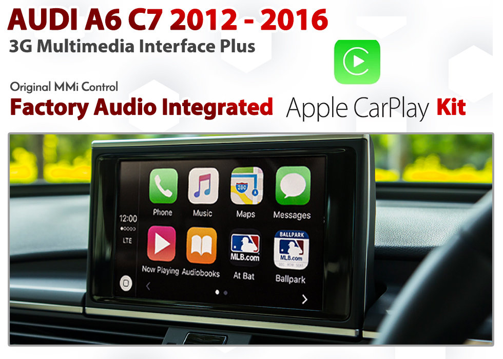 Apple CarPlay for Audi A6 C7 Series 2012 to 2017 3G MMi Plus Audio