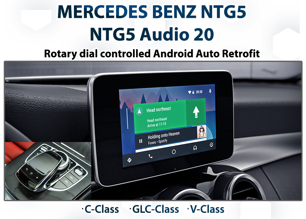 Mercedes Benz NTG5 Audio 20 Integrated Android Auto upgrade pack for  C-Class / GLC-Class and V-Class