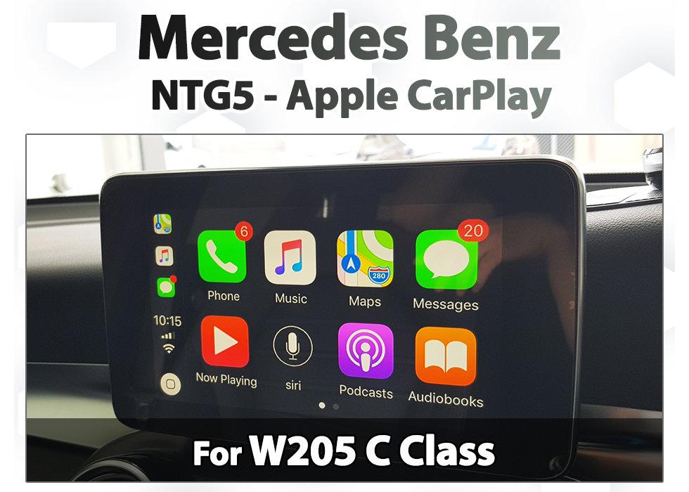 Mercedes Benz W205 C-Class NTG5 Audio20 / COMAND Integrated Apple CarPlay  upgrade