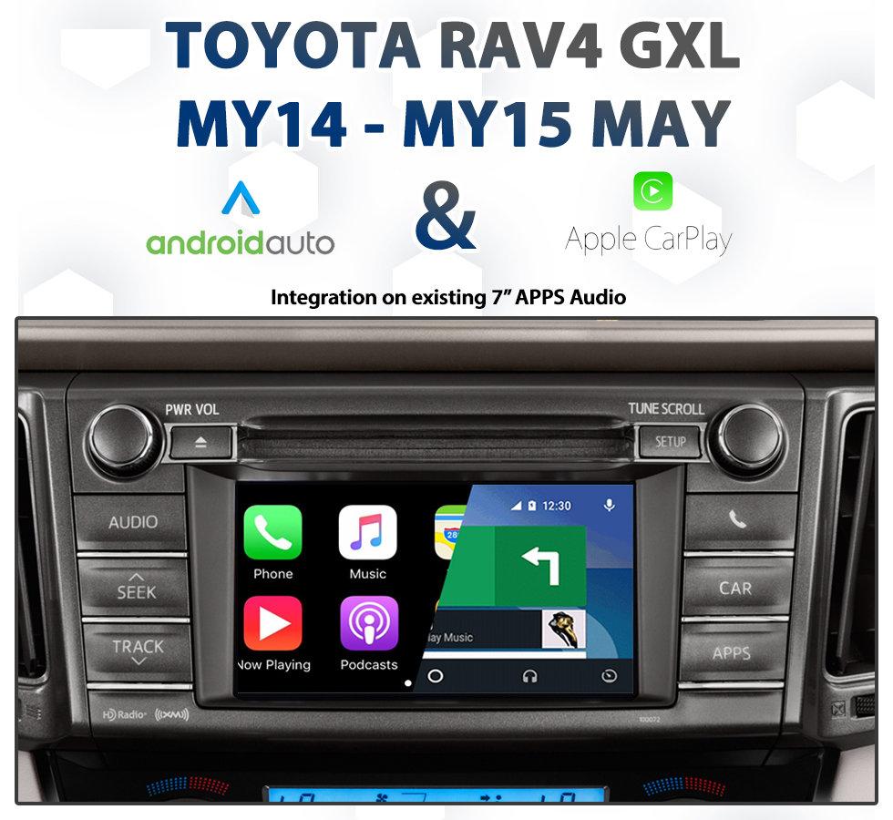 Toyota Rav4 Gxl My14 My15 May Factory Audio Integrated Apple Carplay
