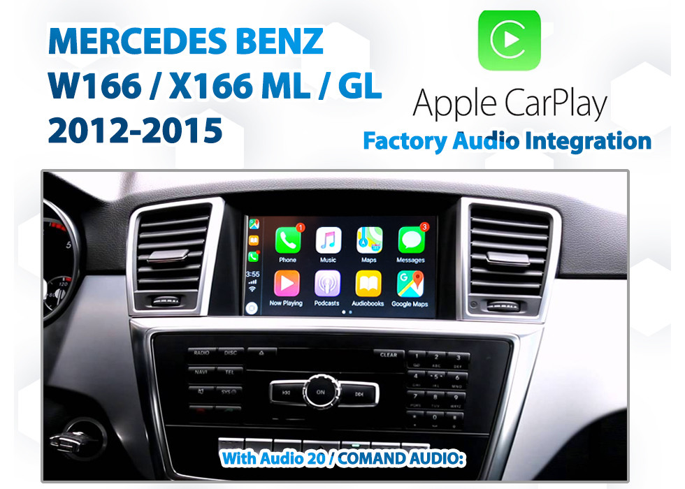 Mercedes Benz W166 ML -Class 2012 - 2014 : Factory Audio Integrated Apple  CarPlay