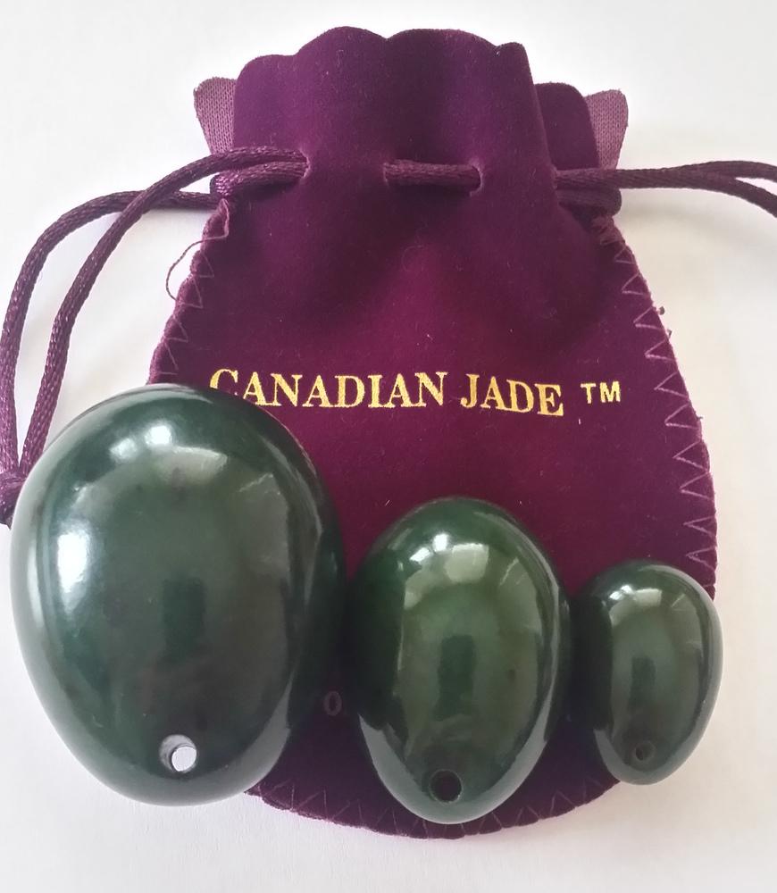 3 Pcs Nephrite Jade Eggs Set Drilled Or Undrilled Large Medium