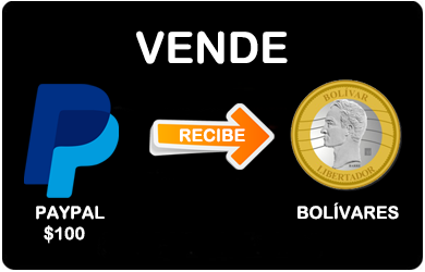 Canje PayPal a Bolivares (Monto unico $100) PP_to_Bsf_SOLO100