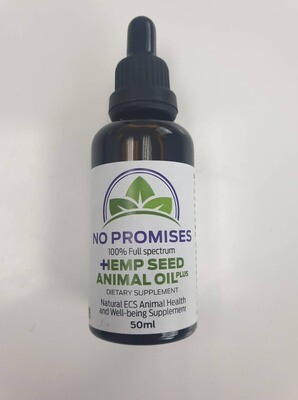 Back order No Promises Hemp Plus 50ml