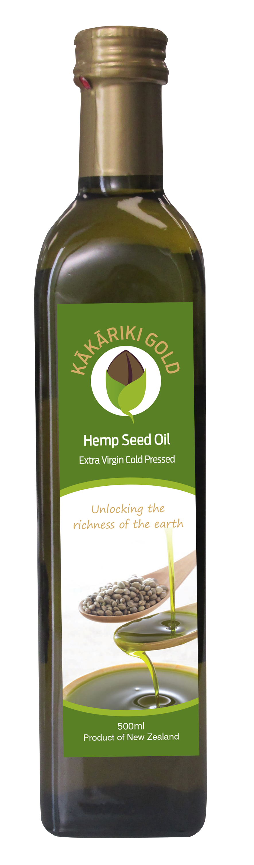 Kakariki Gold Pure NZ Hemp Oil 500ml ( not a cheaper imported oil just all pure NZ) 00002