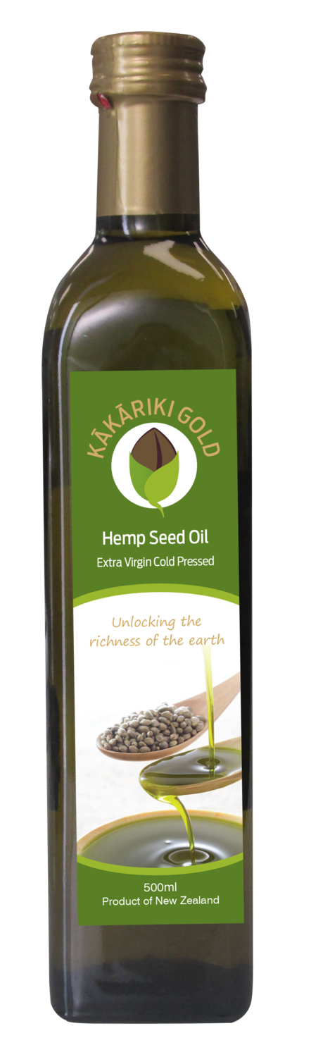 Kakariki Gold Pure Organic NZ Hemp Oil 500ml
