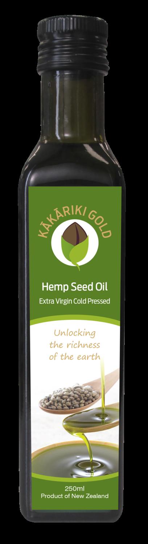 Kakariki Gold Pure Organic NZ Hemp Oil 250g