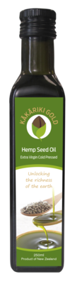 Kakariki Gold Pure Organic NZ Hemp Oil 250g