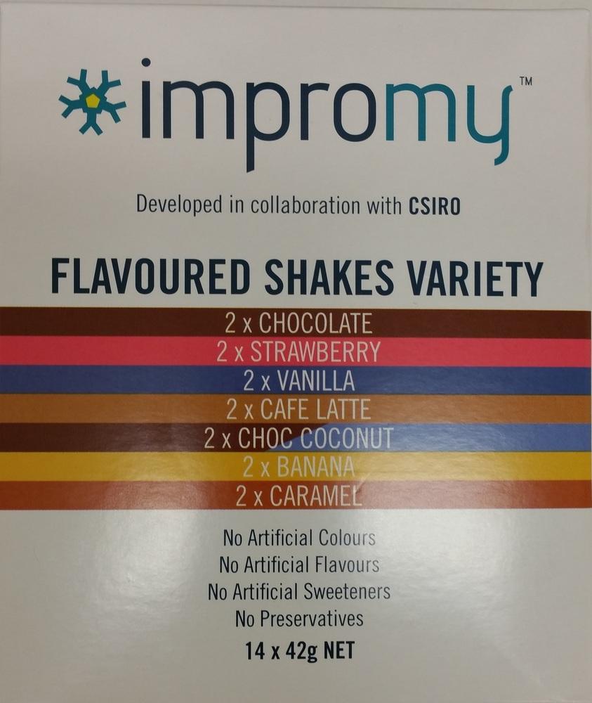IMPROMY SHAKES - VARIETY PACK - BOX of 14