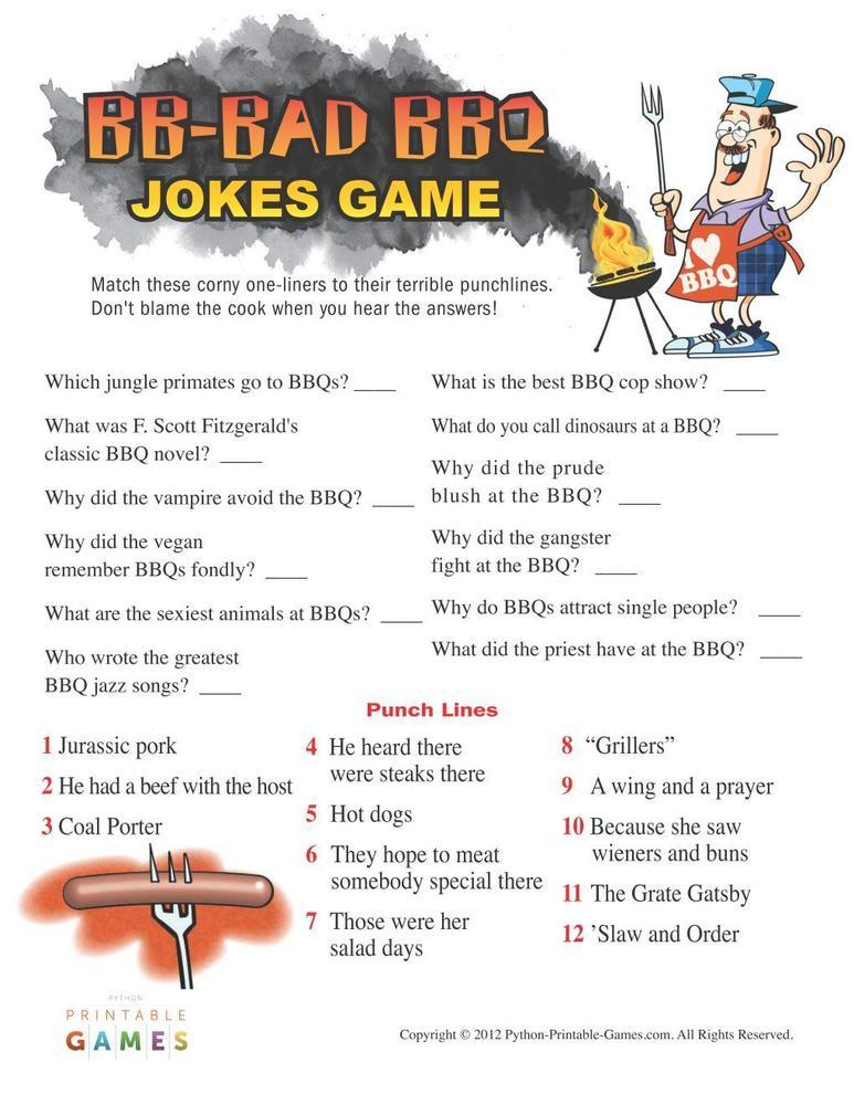 BBQ Games: Bad BBQ Jokes