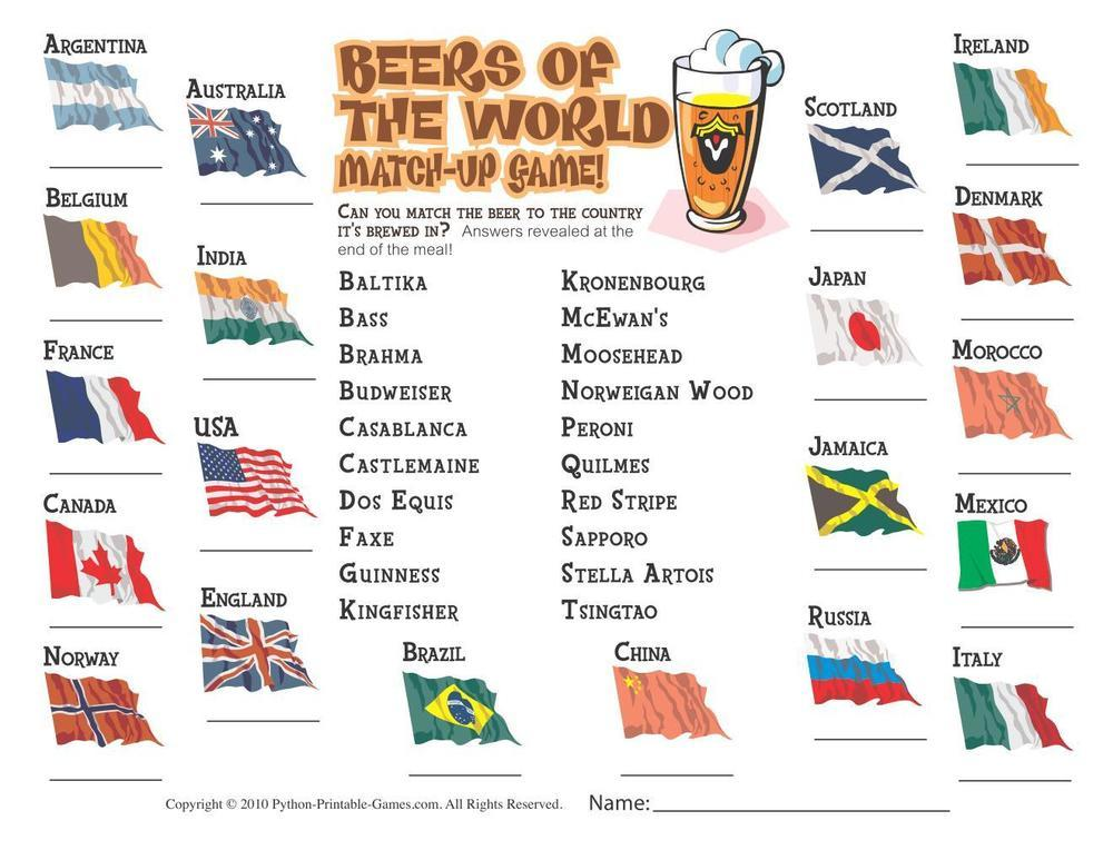 Foods & Drinks Games: Beers of the World Trivia