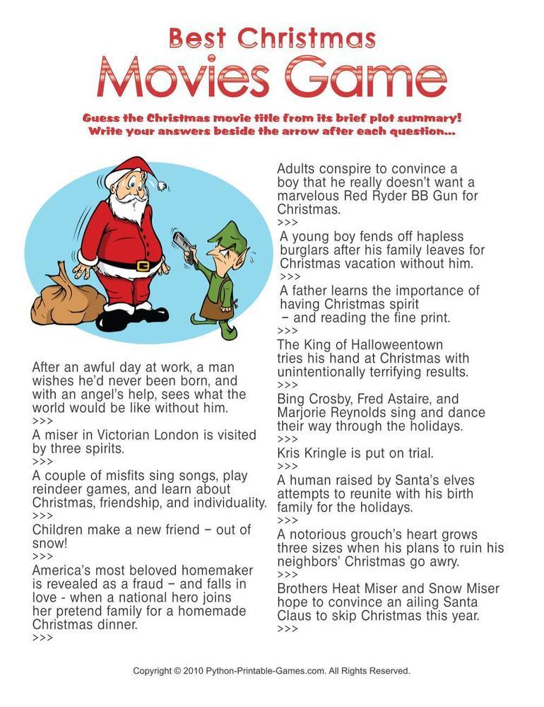 Christmas: Best Christmas Movies Trivia