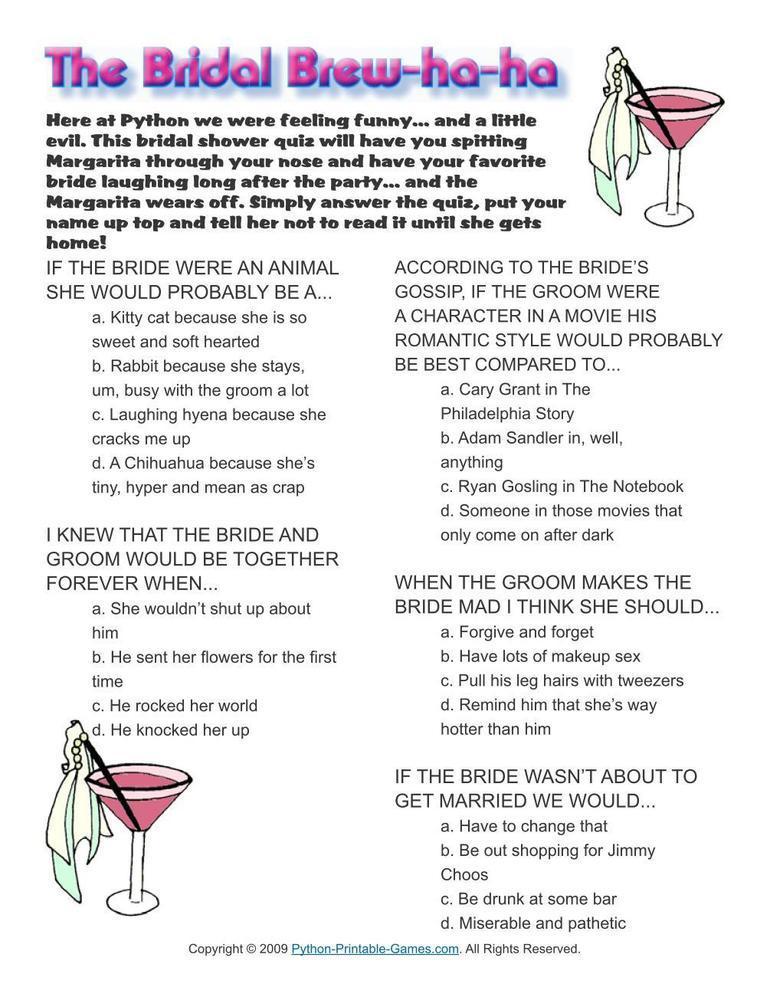 Wedding: Bridal Brew HaHa