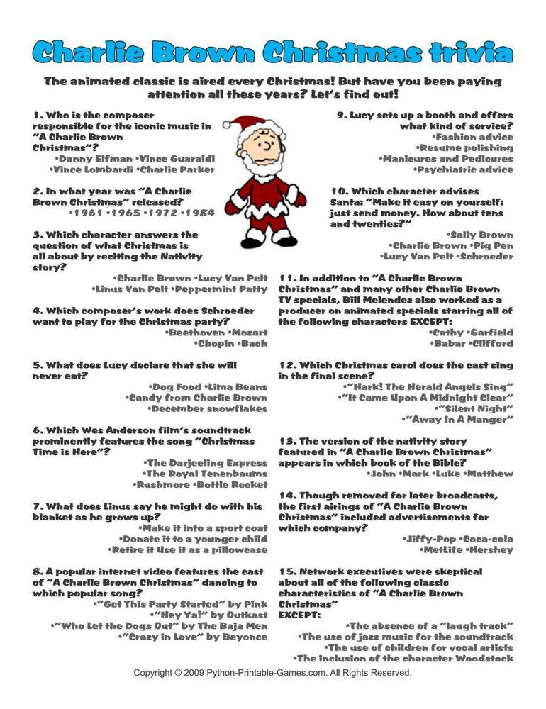 Christmas: Charlie Brown Trivia