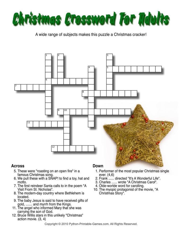 Christmas: Christmas Crossword - Word Search & Mazes