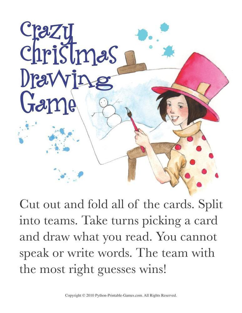 Christmas: Christmas Drawing Game