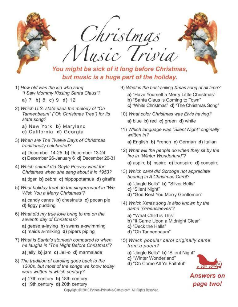 Christmas: Christmas Music Trivia