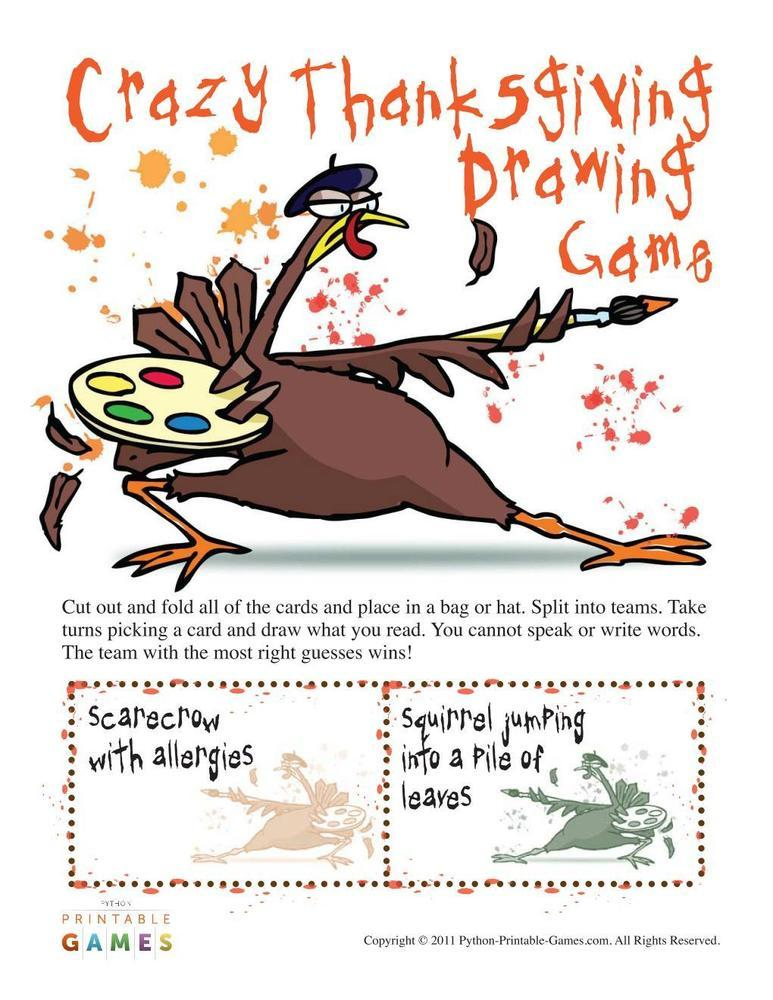 Thanksgiving: Crazy Drawing Game