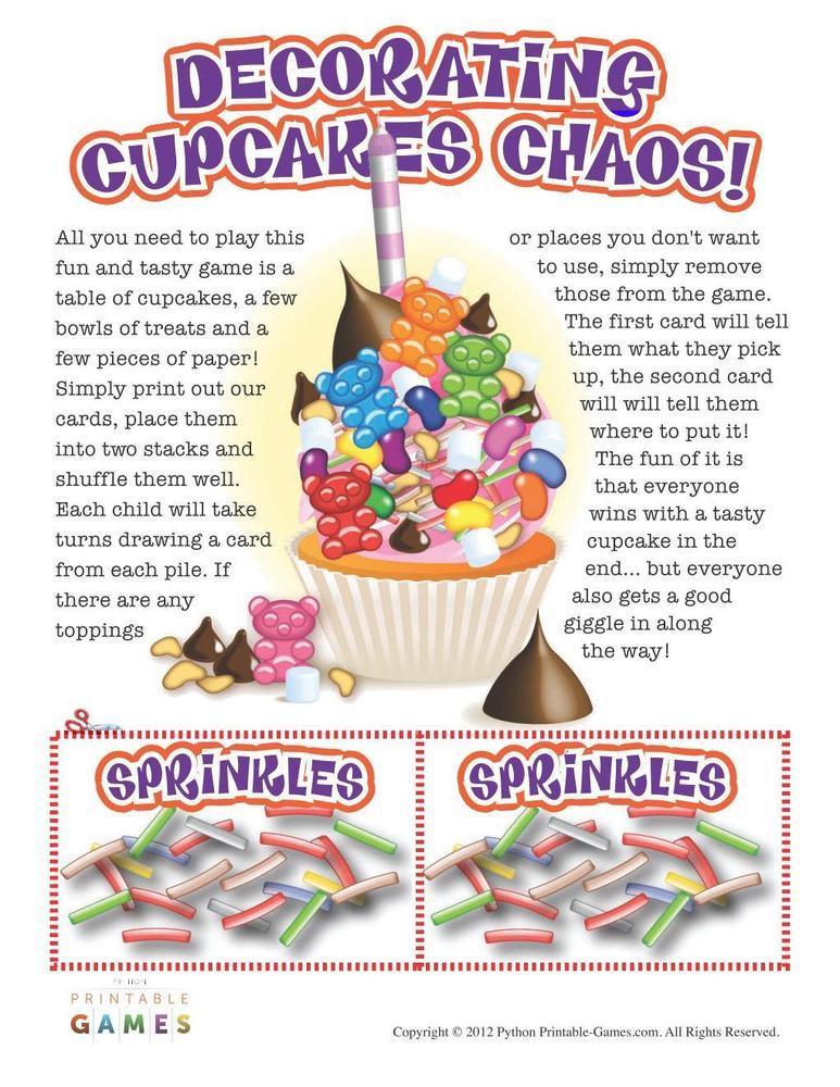 Decorating Cupcake Chaos