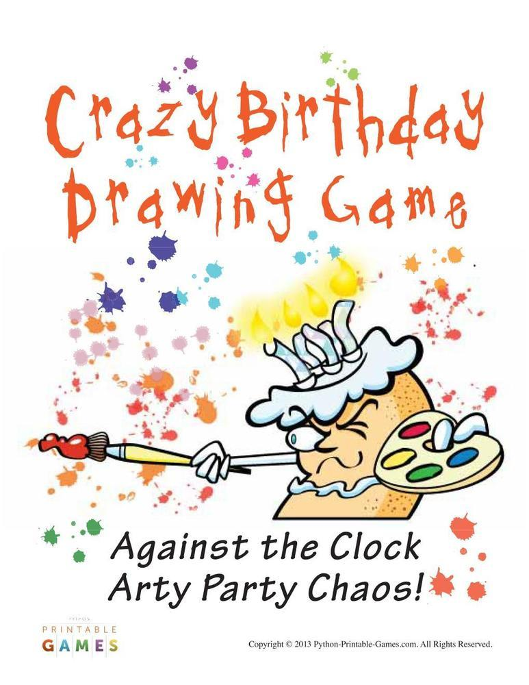 Birthday Party: Drawing Game