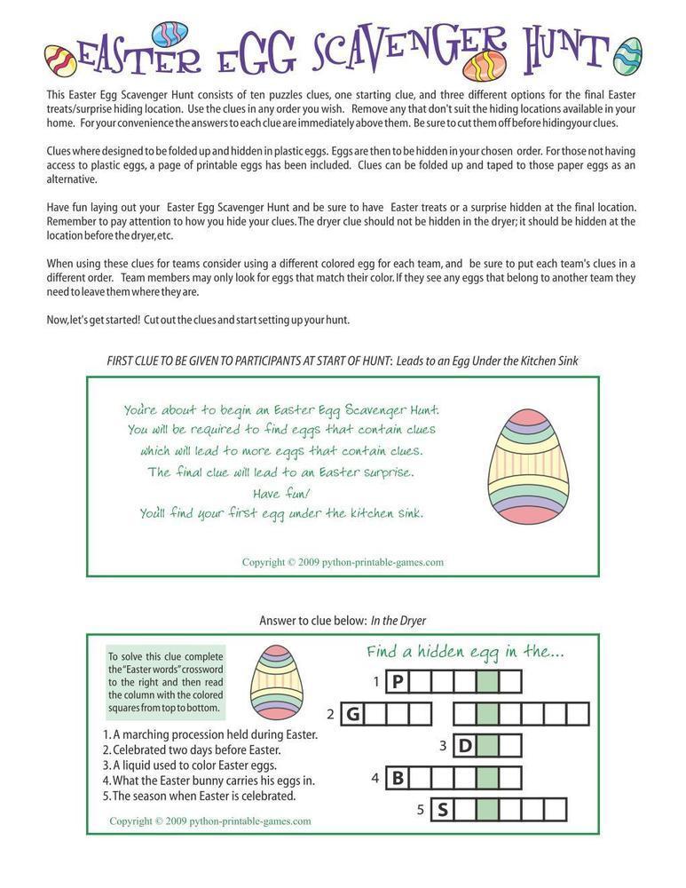 Easter: Egg Scavenger Hunt