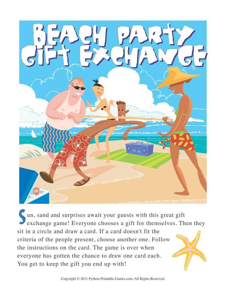 Beach Games: Gift Exchange