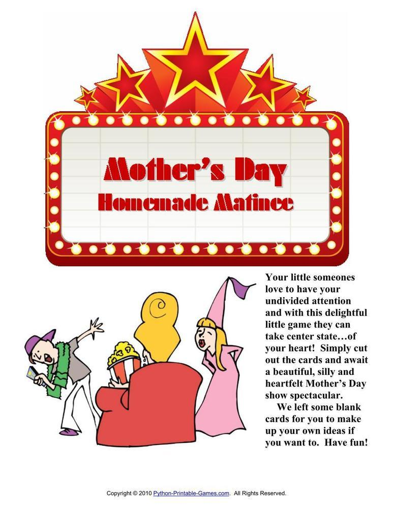 Mother's Day: Homemade Matinee