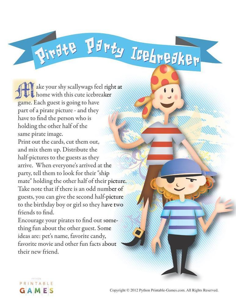 Pirate Party: Icebreaker Game