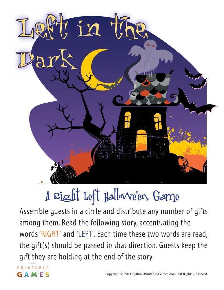 Halloween: Left In The Dark Right Left Game