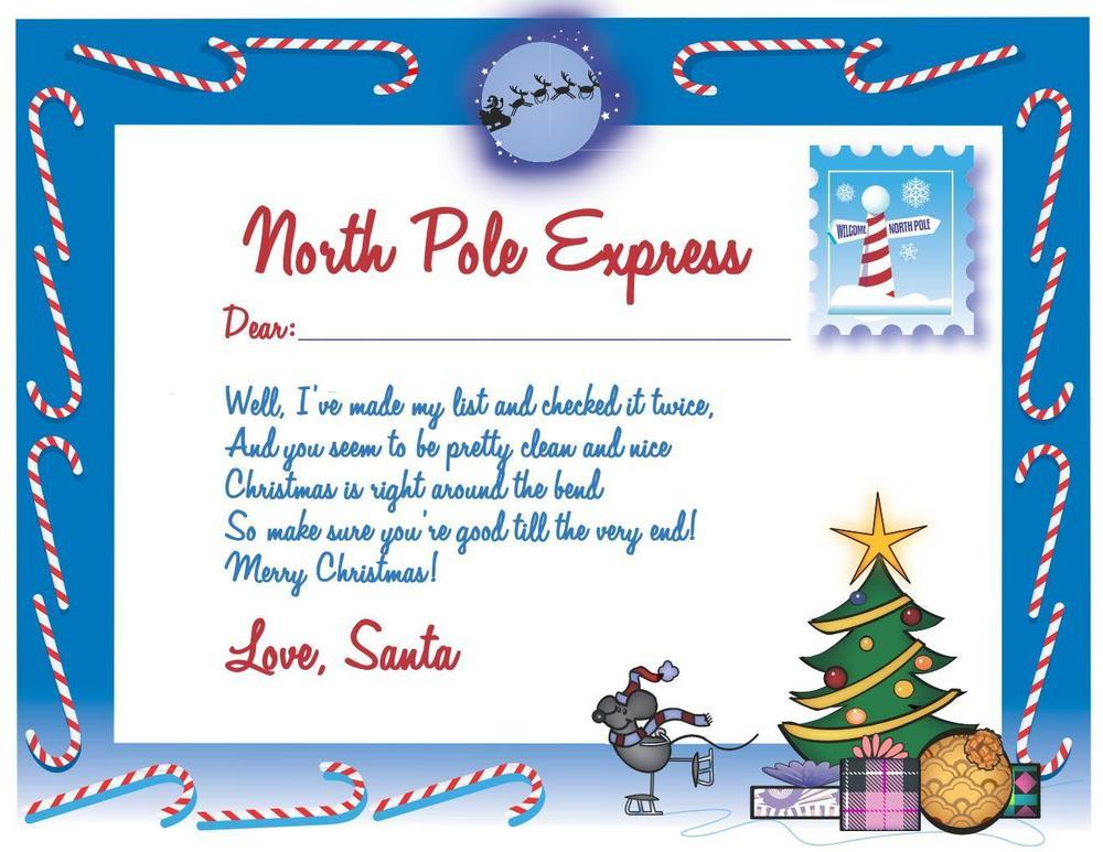 Letter from santa and thank you notes christmas letter from santa and thank you notes spiritdancerdesigns Choice Image