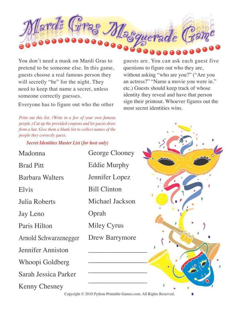 Mardi Gras: Masquerade