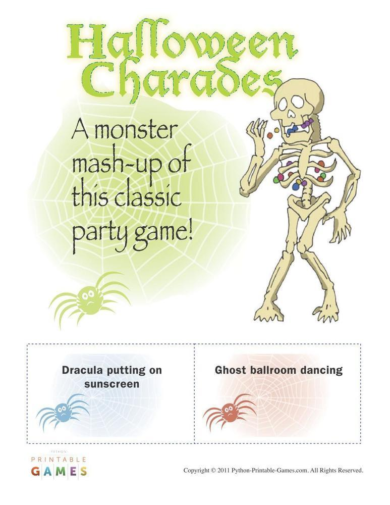 Halloween: Monster Mash-Up Charades