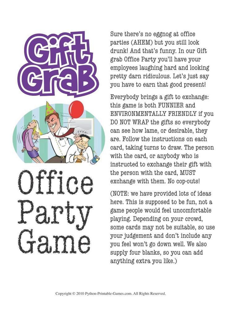 Games for the Office: Office Christmas Party Gift Exchange