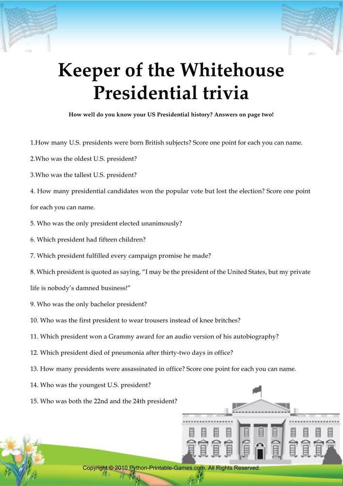 Independence Day: Presidential Trivia