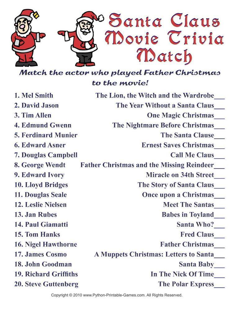 image relating to Printable Christmas Games With Answers identified as Xmas Game titles Archives - Presents Prints Retail store