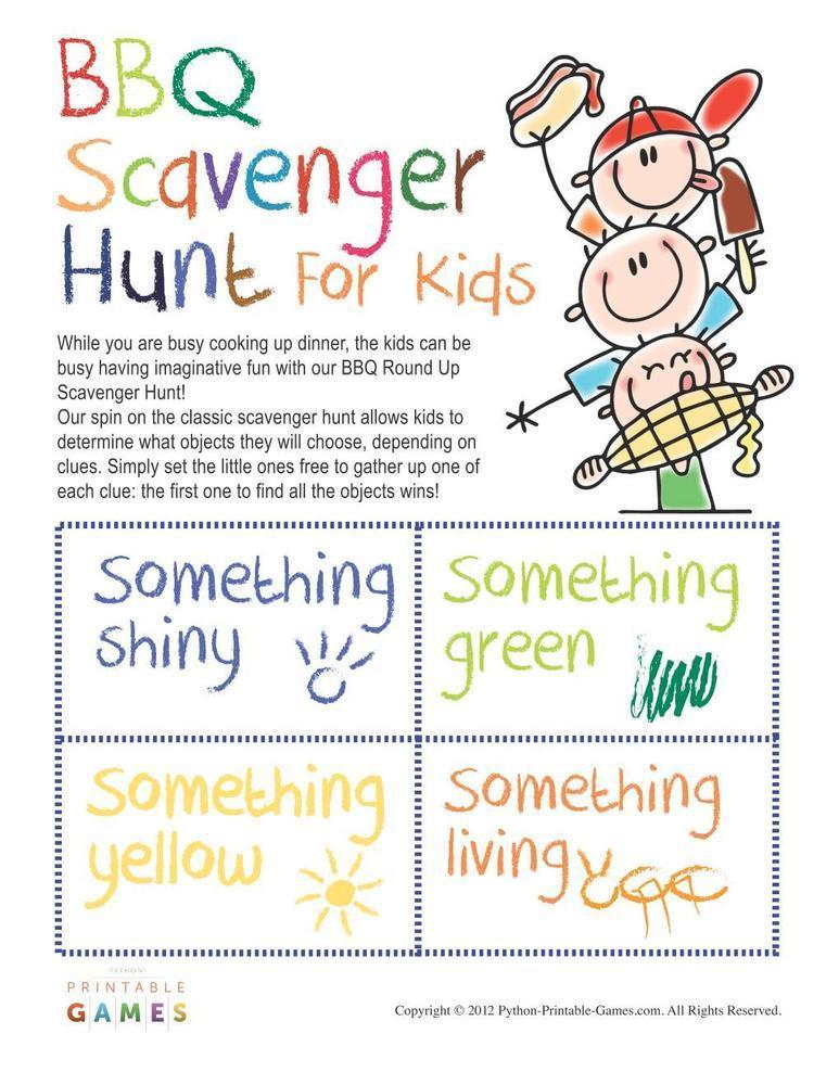 BBQ Games: Scavenger Hunt For Kids
