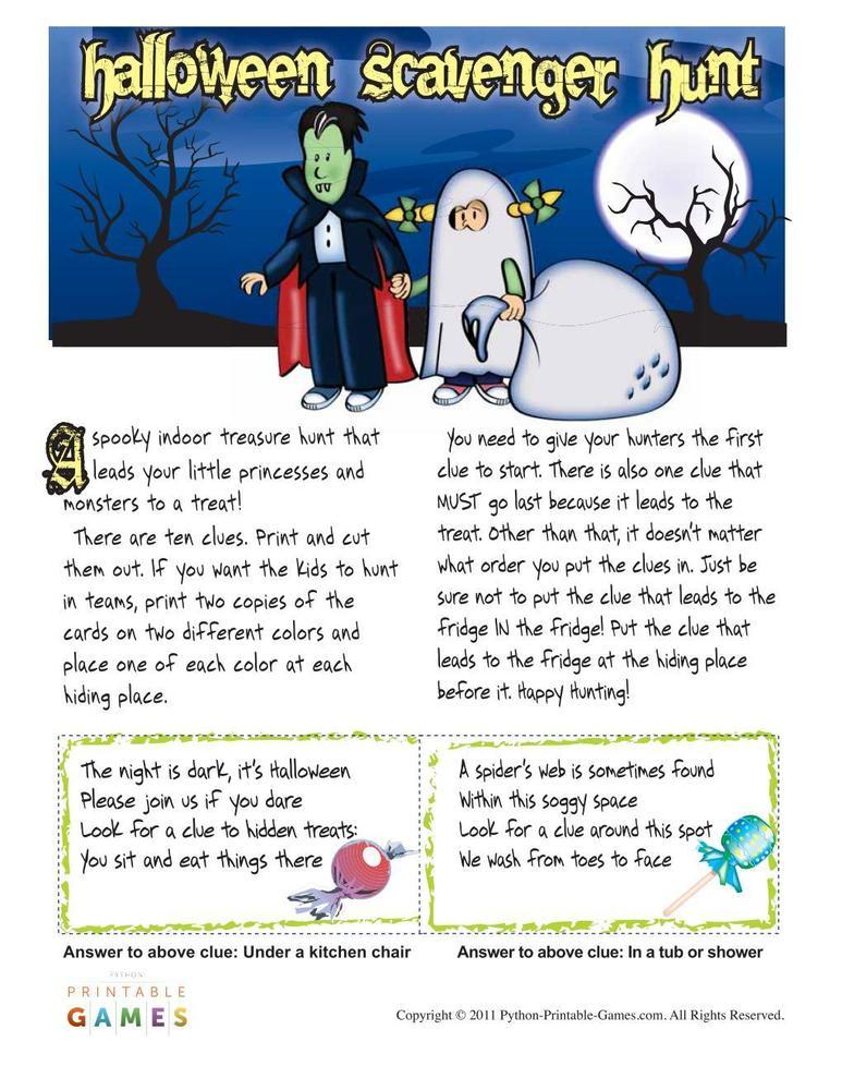 Halloween: Scavenger Hunt For Kids