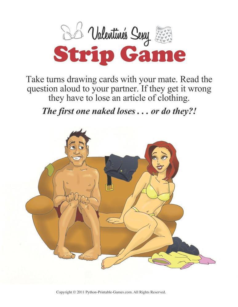 Valentine's Day: Sexy Strip Game