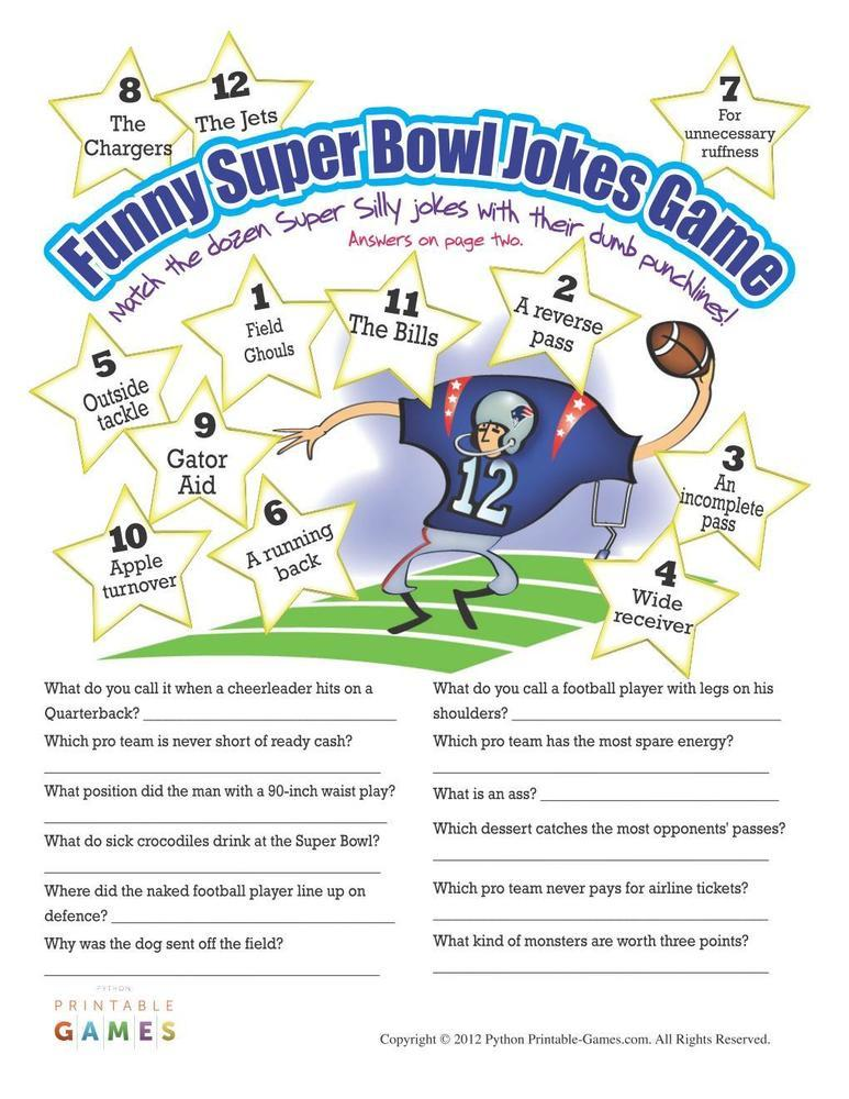 Super Bowl: Silly Jokes